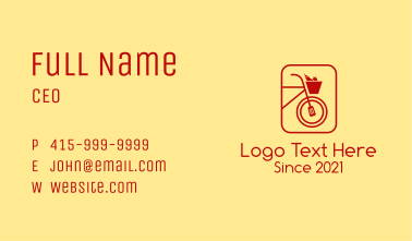 Red Grocery Bike Business Card