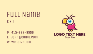 Cute Bird Talk Business Card