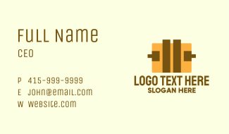 Yellow Luggage Bag Business Card