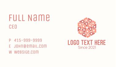 Geometric Hexagon Textile Business Card