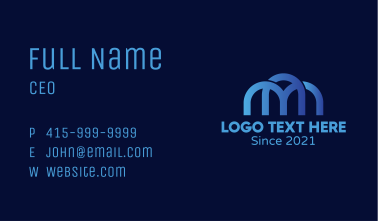 Letter M Arch Structure Business Card