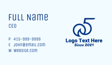 Number 5 Sun Wave Business Card