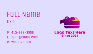 Packed Lunch Box  Business Card