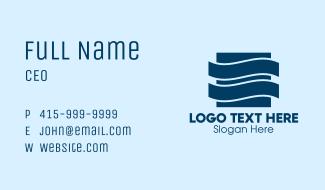 Blue Waves Company Business Card