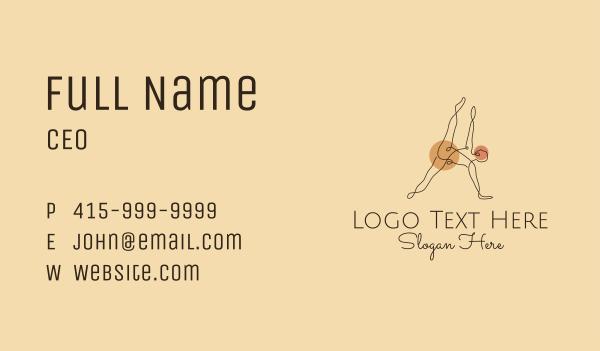 gymnast - Yoga Stretch Letter A Business card horizontal design