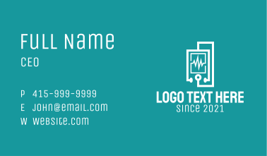 White Medical Equipment  Business Card