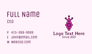 Grape Fruit Stars Business Card