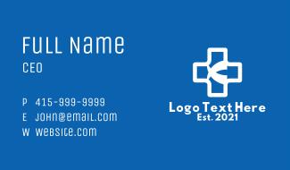 White Medical Cross Business Card