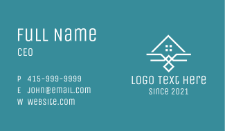 Real Estate Home Property Business Card