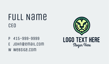 Angry Lion Head Badge  Business Card