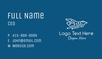 Minimalist Private Plane Business Card