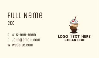 Chocolate Caramel Smoothie Business Card
