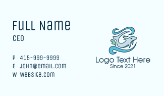 Underwater Dolphin Business Card