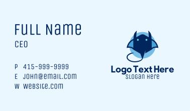 Blue Stingray Business Card