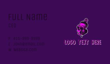 Purple Skull Spray Paint Business Card