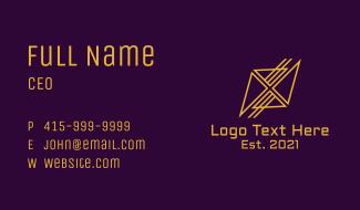 Golden Insurance Agency Business Card