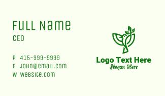 Green Leaf Bird Business Card
