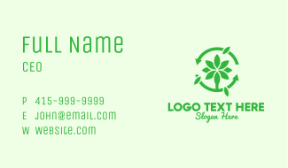 Green Plant Cycle Business Card