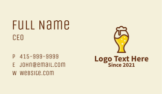 Beer Glass Icon  Business Card