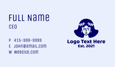 Sea Coral Woman Business Card