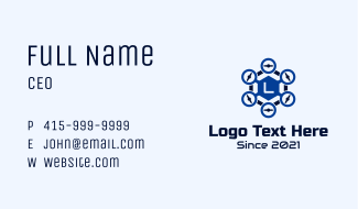 Hexagon Drone Letter Business Card
