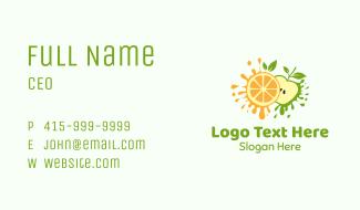 Orange & Apple Fruit Business Card