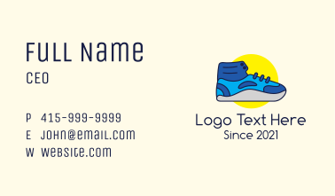 Hype Sneaker Footwear Business Card