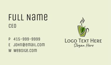 Organic Hot Coffee Business Card