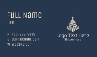White Mosque Quran Business Card