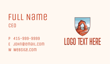 Delicate Arch Landmark Business Card