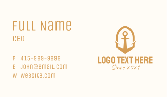 Brown Anchor  Business Card