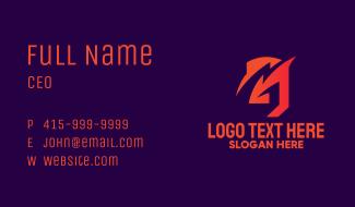 Orange Letter G Business Card