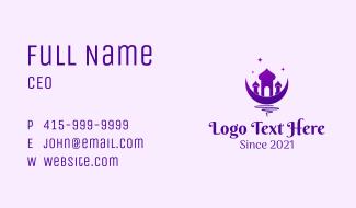 Purple Islam Mosque  Business Card