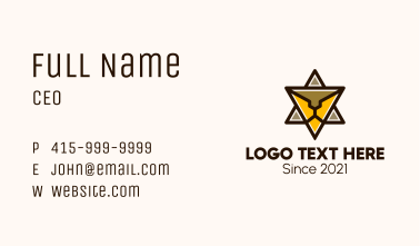 Triangle Star Lion Business Card