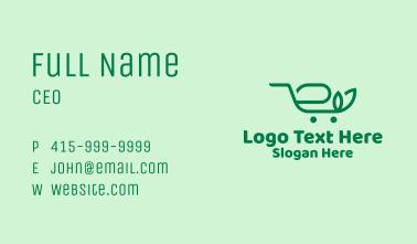 Organic Shopping Cart  Business Card