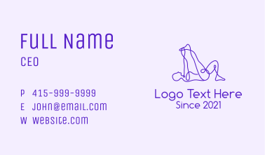 Yoga Exercise  Business Card