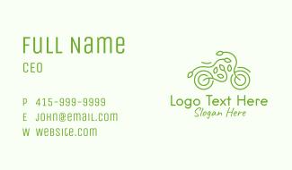 Eco Friendly Bike Business Card