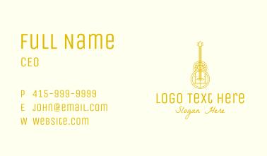 Golden Retro Guitar Business Card