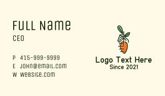 Farmer Hand Carrot Business Card