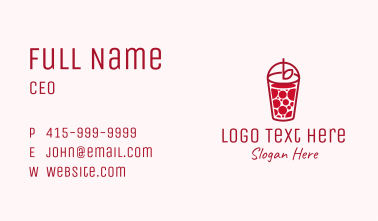 Red Juice Drink Business Card