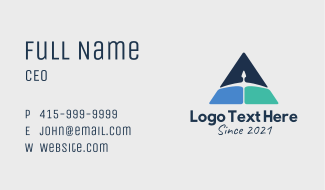 Arrow Triangle Delivery Business Card