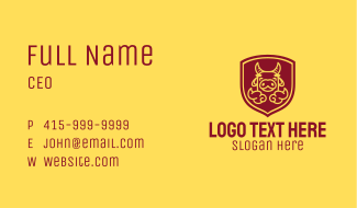 Shield Happy Ox Business Card