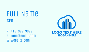 Realty Cloud Towers Business Card