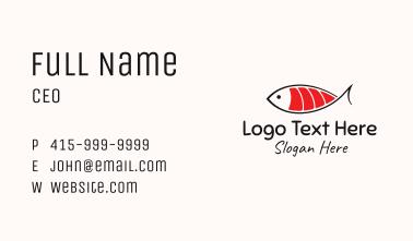 Salmon Sushi Fish  Business Card