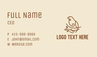Bird Nest Scribble  Business Card