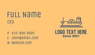 Cargo Ship Tanker Business Card