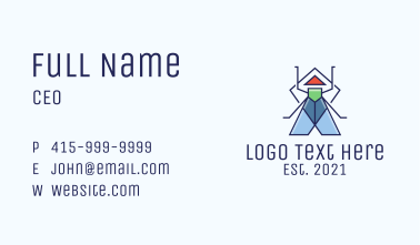 Geometric Bug  Business Card