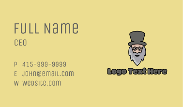 Magician Old Man Business Card