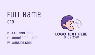 Coughing Person Business Card