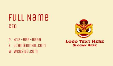 Asian Dragon Mascot  Business Card